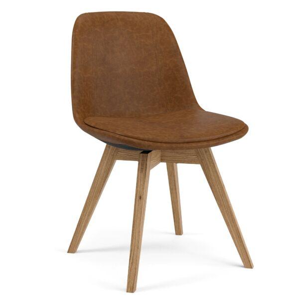 Grace szék, barna textilbőr, tölgy láb