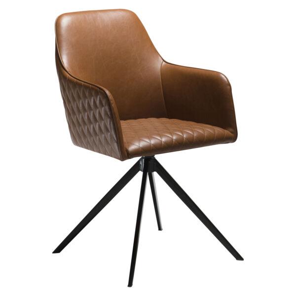 Twine szék, vintage barna textilbőr