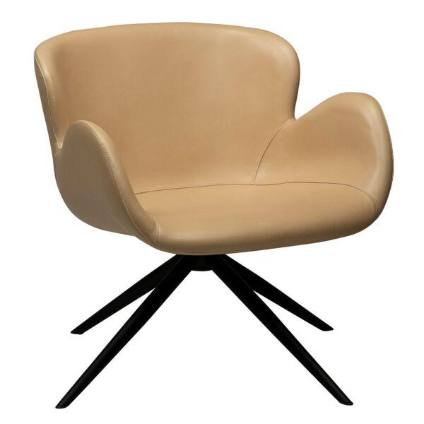 Gaia fotel, bézs textilbőr