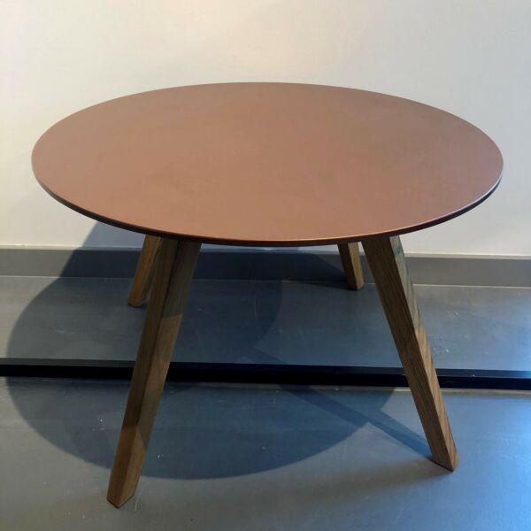 Lola dohányzóasztal, bronz asztallap, tölgy láb