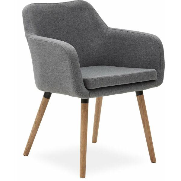 Hartford karfás design szék, világosszürke szövet