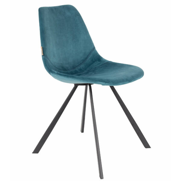 Franky design szék, petrol bársony