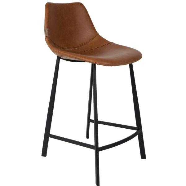 Franky design counter bárszék, barna textilbőr
