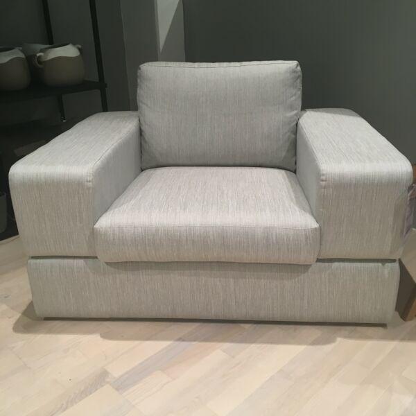 Umbria fotel, világosszürke