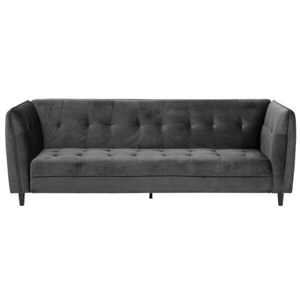 Jonna 3 személyes ágyazható kanapé, szürke bársony