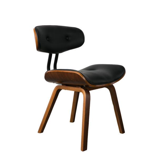 Blackwood design szék, fekete/dió