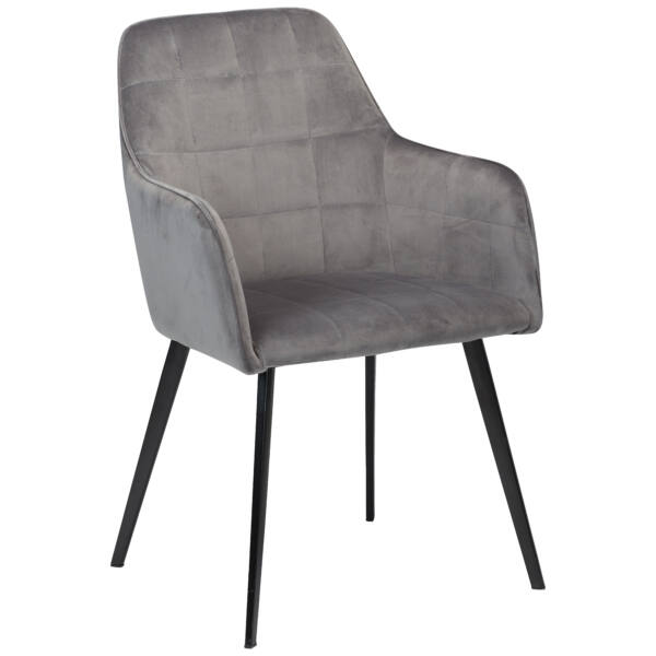 Embrace szék, világosszürke bársony