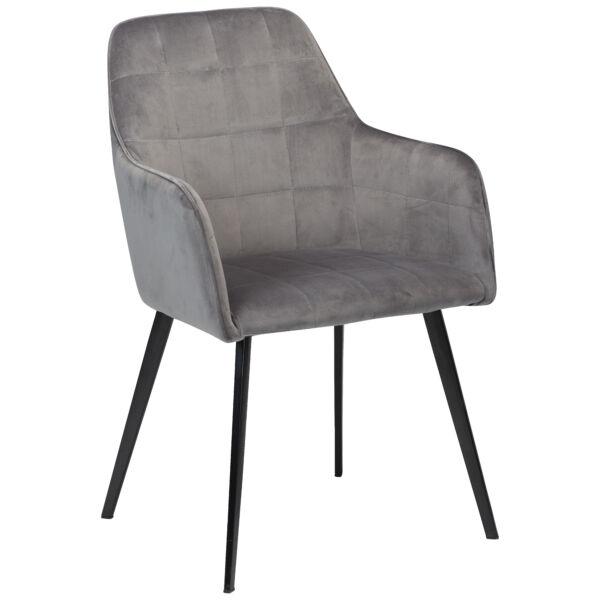 Embrace design szék, világosszürke bársony