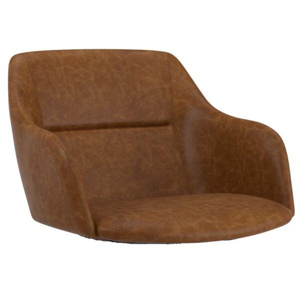 Sofia karfás ülőlap, barna textilbőr