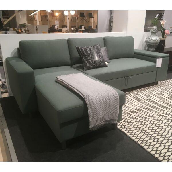 Devon Flex ágyazható kanapé, balos ottománnal, oliva