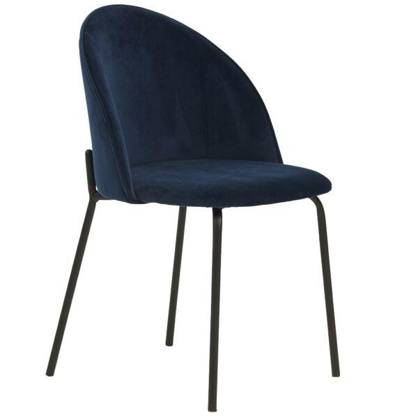 Barnes design szék, sötétkék velúr