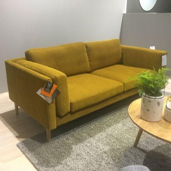 Sigge 3 személyes kanapé, mustársárga