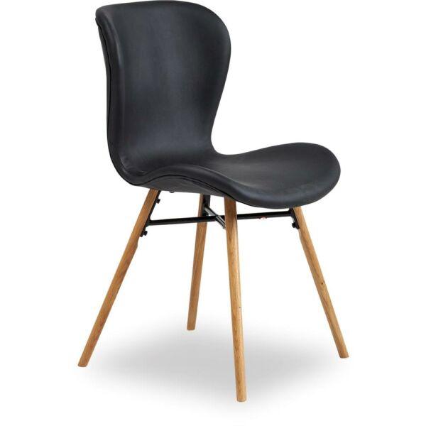 Batilda szék, fekete textilbőr