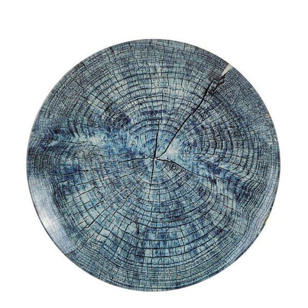 Wood dekorációs tál, kék