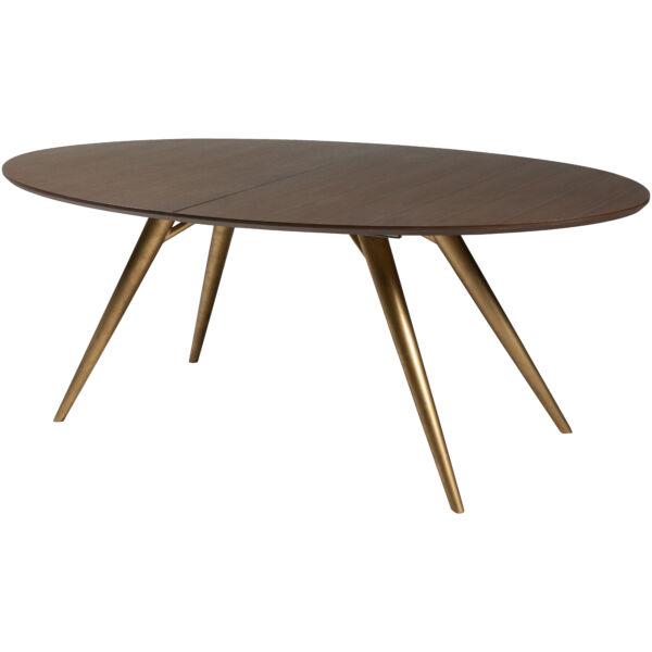 Eclipse bővíthető étkezőasztal, füstös tölgy/arany