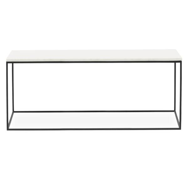Square dohányzóasztal, fehér márvány 100 cm