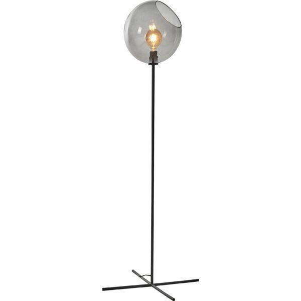 Balance állólámpa, füstüveg, matt fekete fém láb