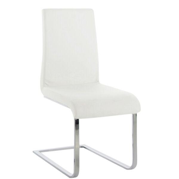Maddox design szék, fehér textilbőr, KIFUTÓ!
