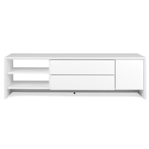 Profil TV-állvány 1 ajtó, 2 fiók, fehér