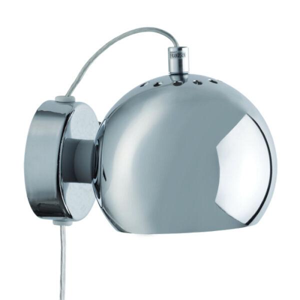 Ball fali lámpa, króm