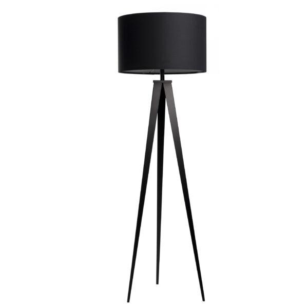 Tripod állólámpa, fekete