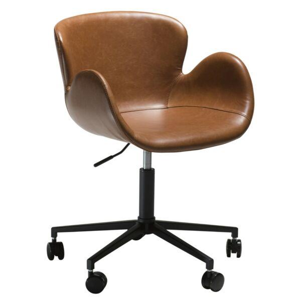 Gaia irodai design szék, brandy bőr