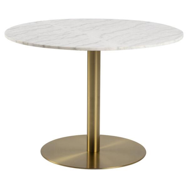 Corby étkezőasztal, fehér márvány, 105 cm