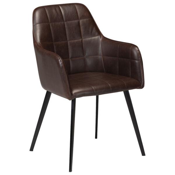 Embrace szék, vintage sötétbarna textilbőr