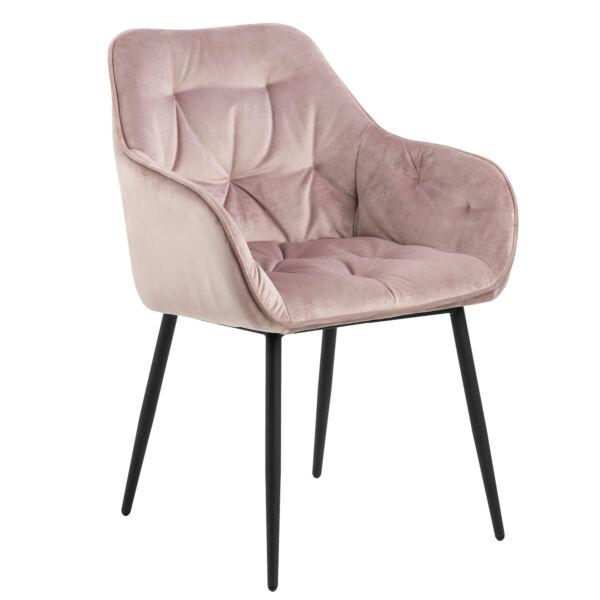 Brooke szék, rózsaszín bársony