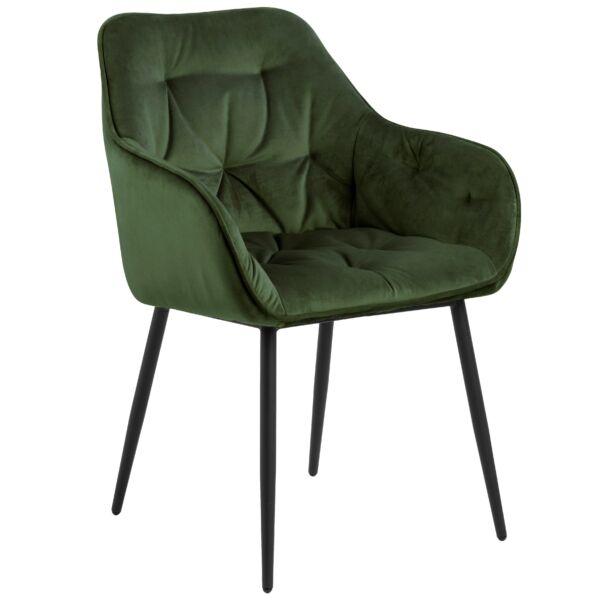 Brooke szék, sötétzöld bársony