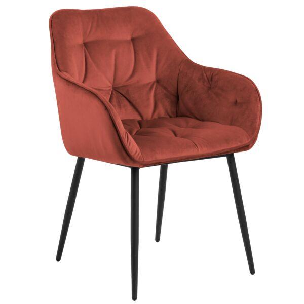 Brooke szék, korall bársony