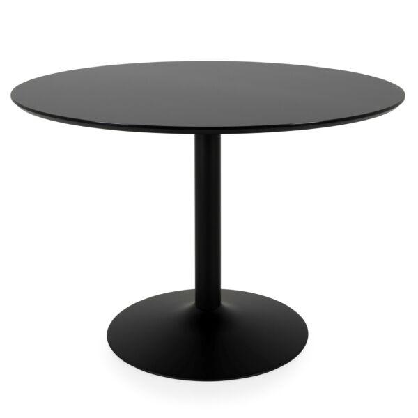 Taco étkezőasztal, fekete HPL, D110cm