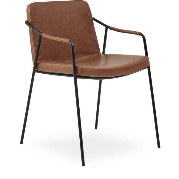 Bota design szék, vintage barna textilbőr