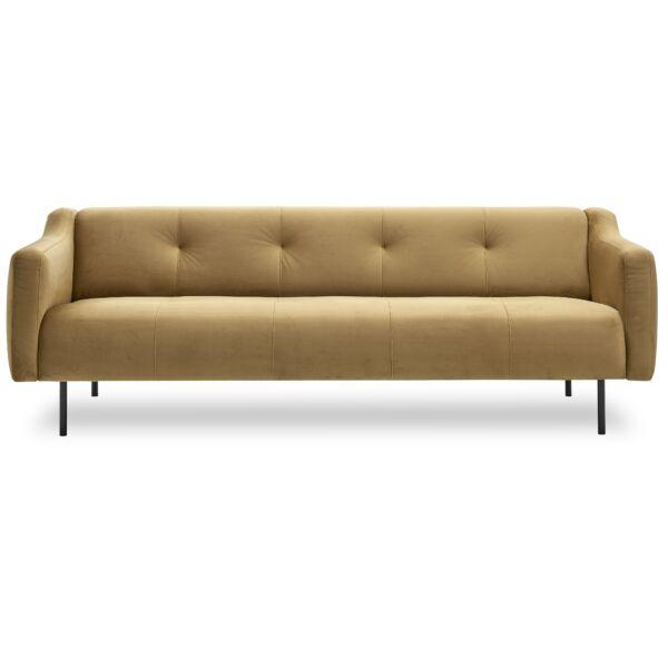 Rimini 3 személyes kanapé, sárga