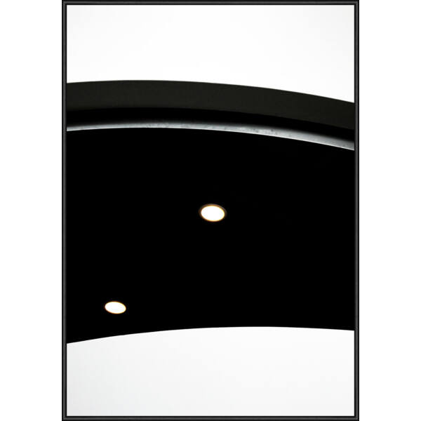 Black Abstract kép, fekete keret, 50x70cm