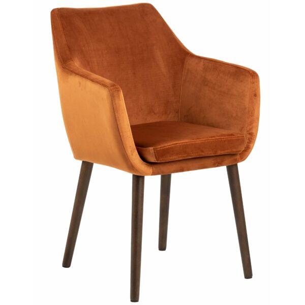 Flora szék, réz bársony