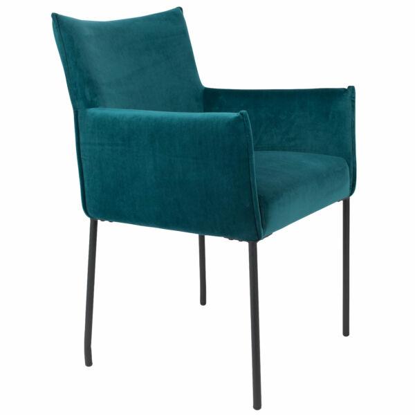 Dion karfás szék, petrol bársony