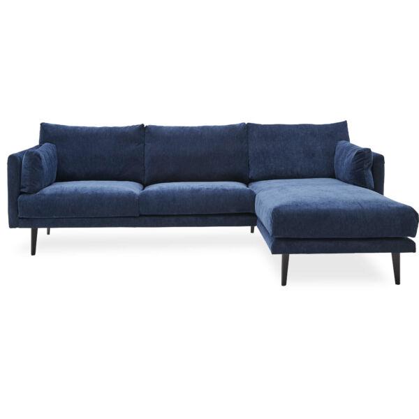 Victor ottomános kanapé, sötétkék bársony
