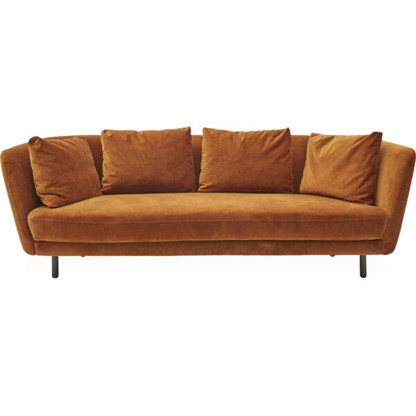 Petri 3 személyes kanapé, mustársárga bársony