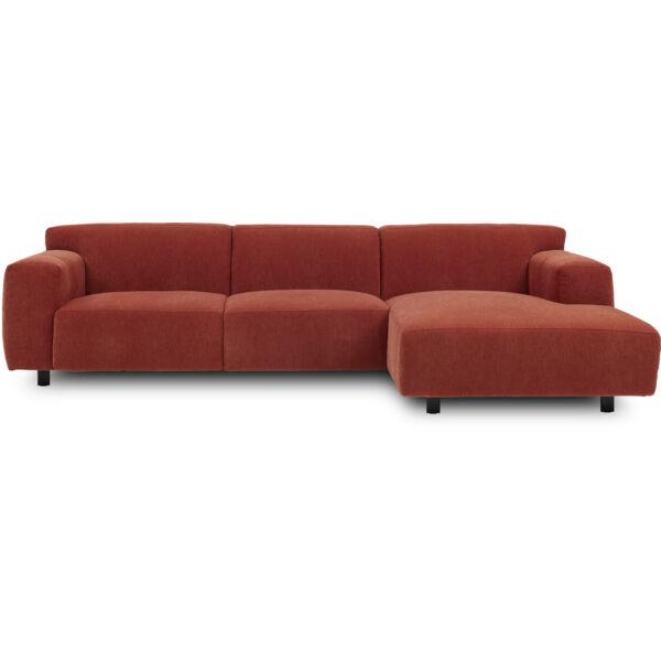 Siena jobb ottomános kanapé, barack kordbársony