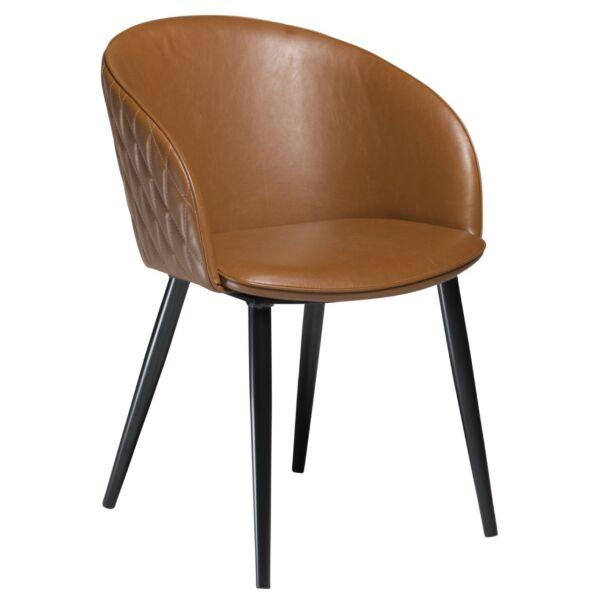 Dual szék, vintage világosbarna textilbőr