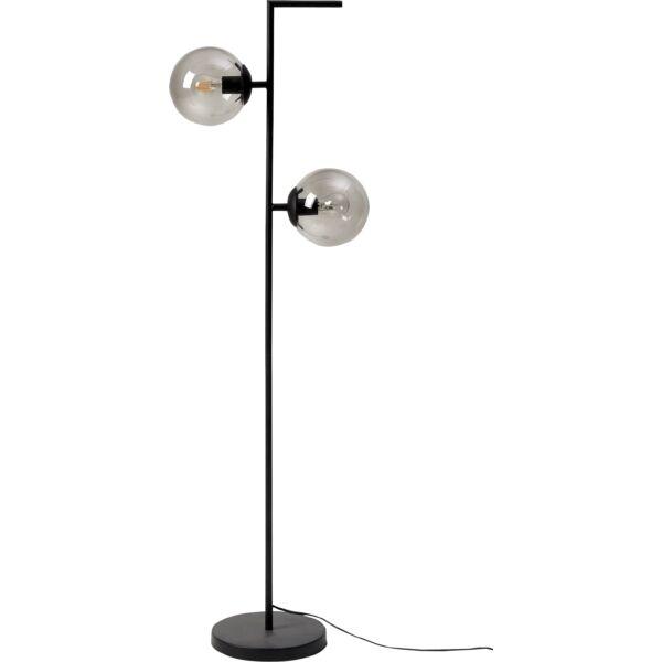 Pearl állólámpa, 2 izzós, füstüveg