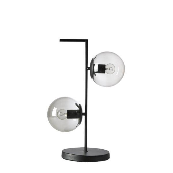 Pearl asztali lámpa, 2 izzós, füstüveg