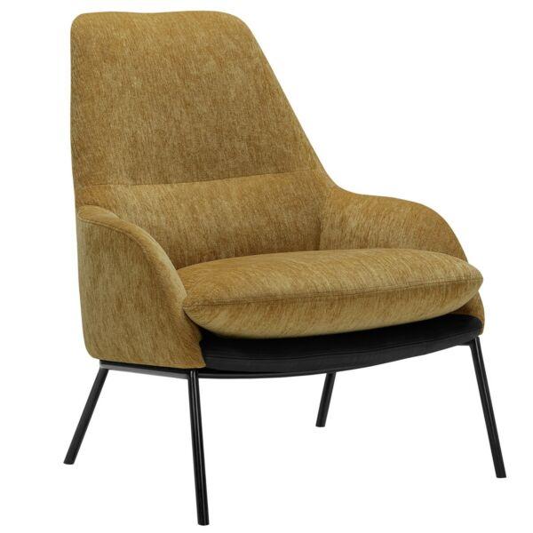 Holly fotel, mustársárga szövet