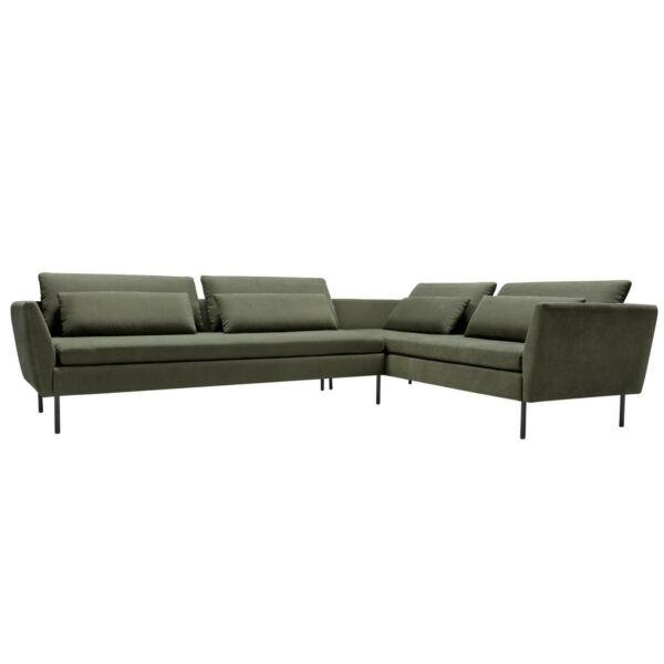 Day & Night jobb ottomános kanapé, szürkés zöld szövet