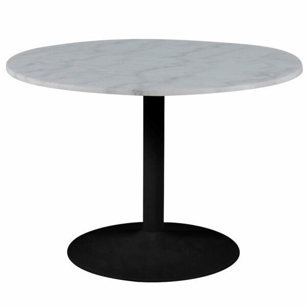 Tarifa étkezőasztal, márvány, fekete láb