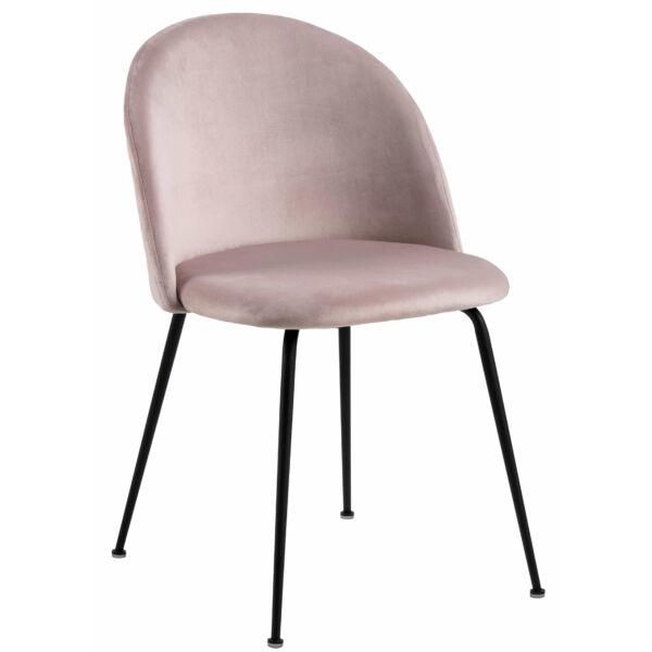 Louise szék, rózsaszín bársony