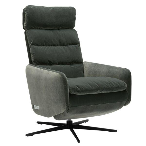 Liv relax fotel, szürke bársony