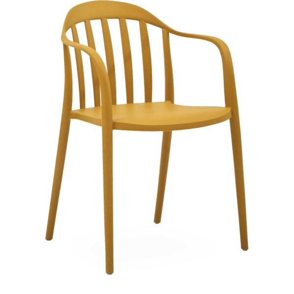 Portio kerti szék, mustársárga