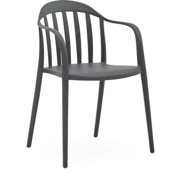 Portio kerti szék, sötétszürke